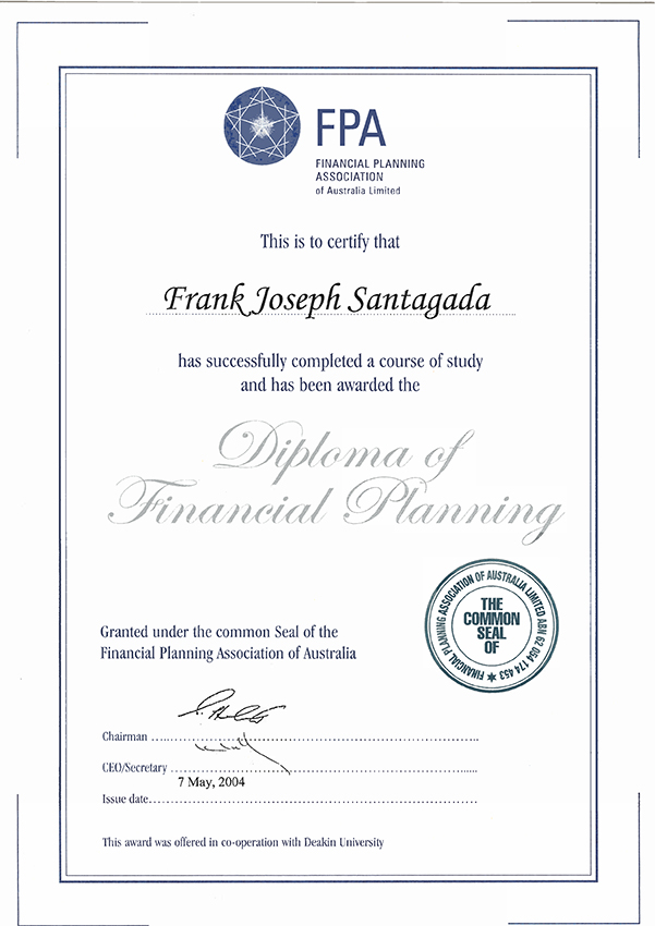 Fpa Diploma Of Financial Planning Investment Options Aust