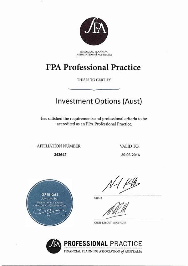 Fpa Professional Practice Investment Options Aust